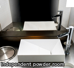 Independent powder room
